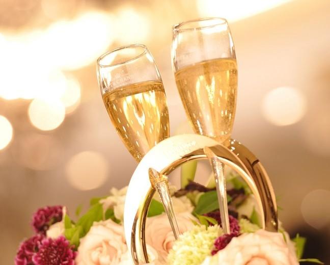 結婚式シャンパン